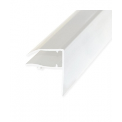 Universal Edge Trim/Sheet Closure (PVCu) For Rafter Bar